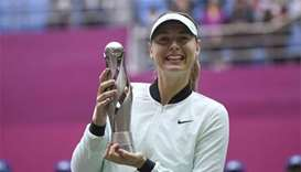 Maria Sharapova wins first title since drugs ban