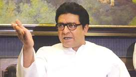 MNS chief Raj Thackeray gestures as he addresses a press conference in Mumbai yesterday.