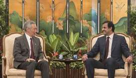 Emir, Singapore Prime Minister hold official talks