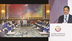 Economy minister meets Singapore's minister of Trade and Industry