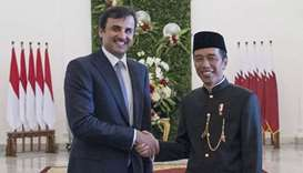 Emir and Indonesian President hold talks in Jakarta