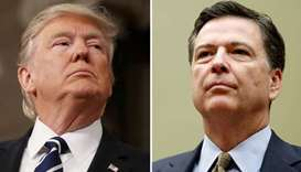 President Donald Trump and James Comey
