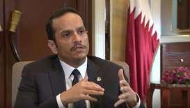 HE the Foreign Minister Sheikh Mohamed bin Abdulrahman al-Thani