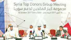 Qatar provided $2.4bn in aid to Syrian people
