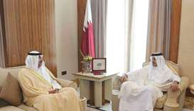 Emir meets Kuwaiti Foreign Minister, discusses Gulf crisis