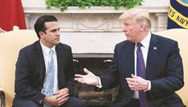 Puerto Rico Governor Rossello with President Trump at the Oval Office.