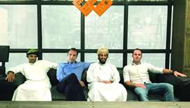 The group from Oman comprising Rashid al-Barwani, Mohamed al-Asfoor, Javier Sanchez and Pablo Doming