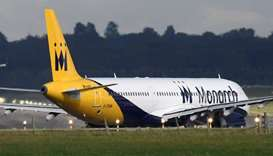 A Monarch Airlines passenger aircraft preparing for take off