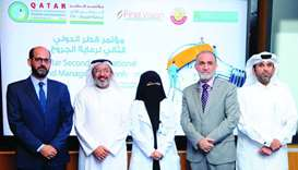 HMC officials along with the representatives of sponsors of the conference at a press conference