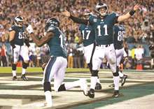 Wentz carves up Redskins as Eagles win fifth in row