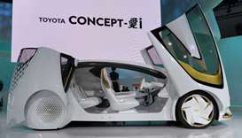 Toyota Concept-AI is on display at the Toyota booth during the Tokyo Motor Show in Tokyo