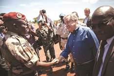 UN chief comes to war-torn Central Africa town