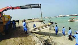 Boats removed in clean-up at Al Ruwais Port