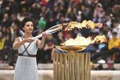 Greece hands torch to Pyoengchang