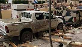The scene after the explosion at the main court building in Misrata