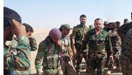 Syrian troops near Al-Mayadin