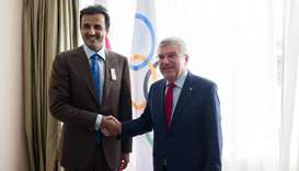 Amir meets President of International Olympic Committee