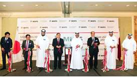 HE al-Sada among other dignitaries during the official opening of Mitsubishi Hitachi Power Systems o