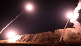 Missiles being launched from an undisclosed location to target militants in eastern Syria early toda