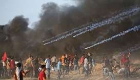 Five Palestinians killed in border protests