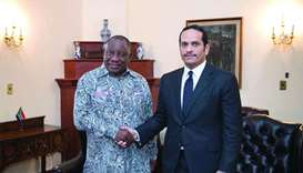 South African president praises Qatar ties