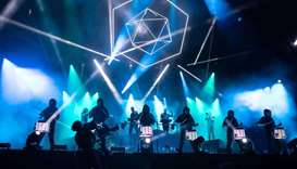 The American band Odesza perform during the ACL Music Festival at Zilker Park in Austin