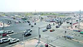 The newly opened signalled Wholesale Market Intersection
