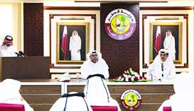 Officials of The Public Prosecution and Qatar Charity at the press conference