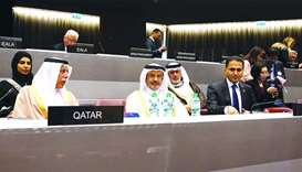 HE Ahmed bin Abdullah bin Zaid al-Mahmoud at IPU General Council