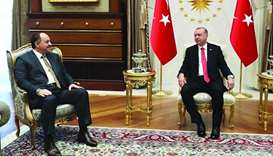 Turkish President Recep Tayyip Erdogan met with Qatar's Deputy Prime Minister and Minister of State