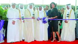 HE the Minister of Transport and Communications Jassim bin Saif al-Sulaiti (centre) inaugurates the