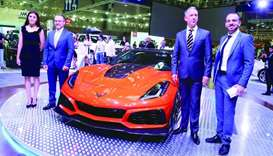 Jaidah Automotive managing director Bernhard Dolinek, Chevrolet general manager Yusuf Soydas, and ot