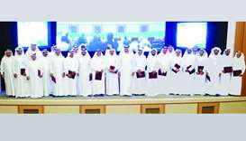 HE the Minister of Municipality and Environment Mohamed bin Abdullah al-Rumaihi with the recipients