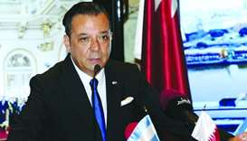 Hernandez speaks at a press conference at Katara. PICTURE: Shemeer Rasheed.