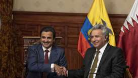 His Highness the Amir Sheikh Tamim bin Hamad al-Thani's visit to Ecuador
