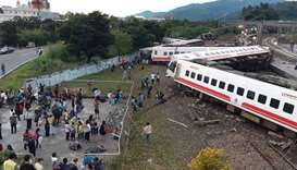 Taiwan train crash