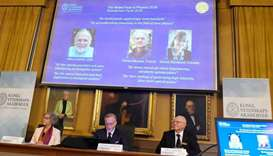 Trio win 2018 Nobel Physics Prize for laser research