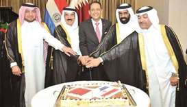 Paraguay National Day celebration in Doha.