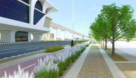 Computer generated image of a section of Al Wakrah Main Road