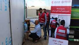 QRCS to provide drinking water for Syrian refugees