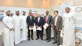 HE Ibrahim Ibrahim, vice-chairman, Al-Attiyah Foundation celebrated the launch of the book with Foun