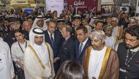 HE the Prime Minister and Interior Minister, Sheikh Abdullah bin Nasser bin Khalifa al-Thani, with o