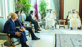 His Highness the Amir Sheikh Tamim bin Hamad al-Thani met the Deputy Prime Minister and Minister of