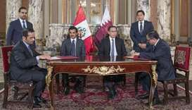 Amir, Peruvian President witness signing of agreements