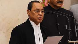 In-coming Chief Justice of India Justice Ranjan Gogoi takes the oath