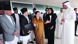 Nepal president visits Qatar centres of excellence