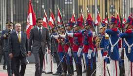 His Highness the Amir Sheikh Tamim bin Hamad al-Thani's Peru visit