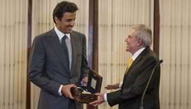 Amir receives Key of Lima City