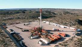 A shale oil field in Vaca Muerta