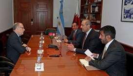 HE Minister of Economy and Commerce Sheikh Ahmed bin Jassim bin Mohammed Al-Thani and Argentina's Mi